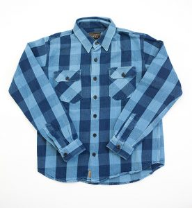 Norris Flanell Shirt, Japan Narrow-loom Fabric with Red Selvage