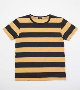 Blake block Stripe, Hemp/ Cotton, Yellow/ Black