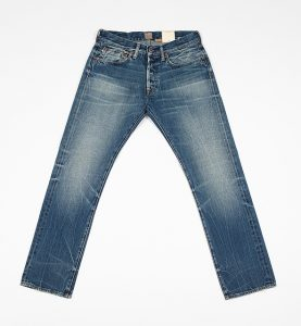 RAY: Fabric No 9 Japanese Selvage, 14 Oz, Roxbury Wash