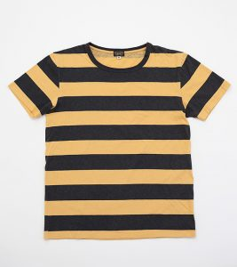 Blake block Stripe, Hemp/ Cotton, Yellow/ Black